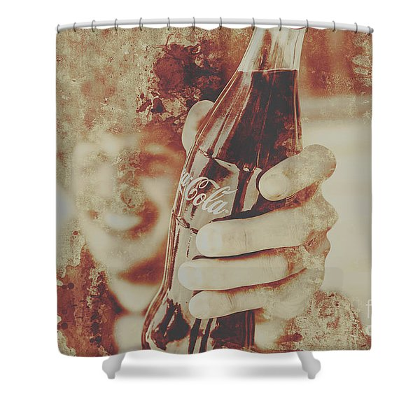 Rustic Drinks Advertising  Shower Curtain