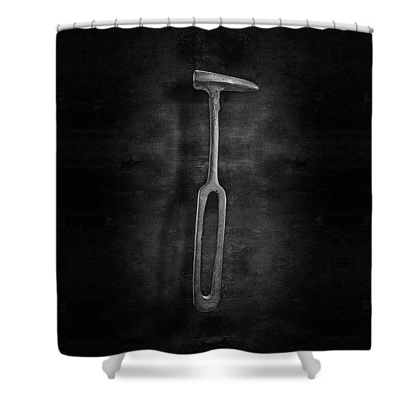 Rustic Hammer In Bw Shower Curtain