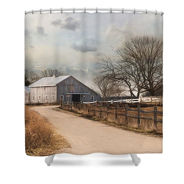 Rustic Lane Shower Curtain
