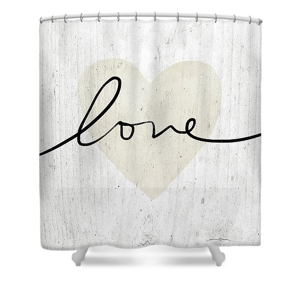 Rustic Love Heart- Art By Linda Woods Shower Curtain