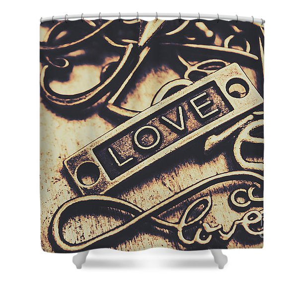 Rustic Love Icons Shower Curtain