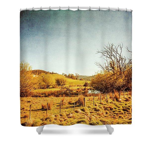 Rustic Pastoral Australia Shower Curtain