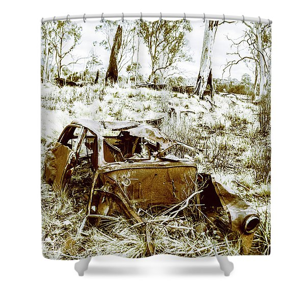 Rustic Rural Decay Shower Curtain
