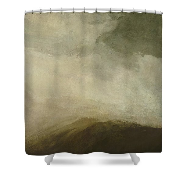 Rustic Wave Shower Curtain