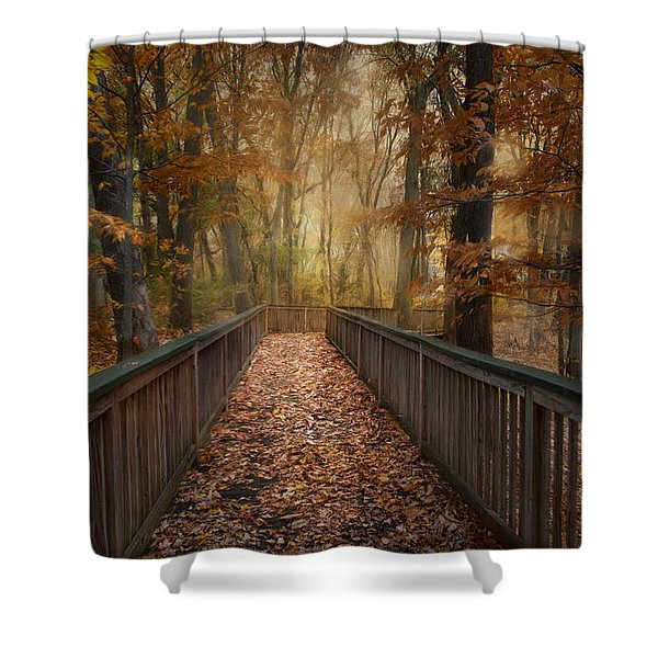 Rustic Woodland Shower Curtain