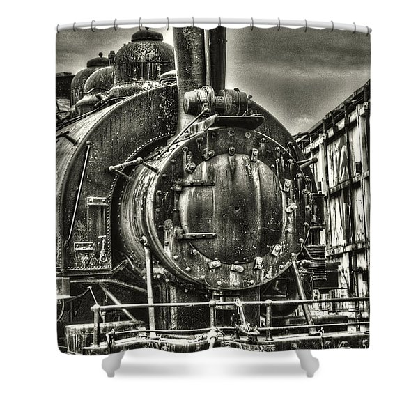 Rusting Locomotive Shower Curtain