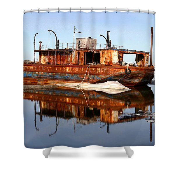 Rusty Barge Shower Curtain