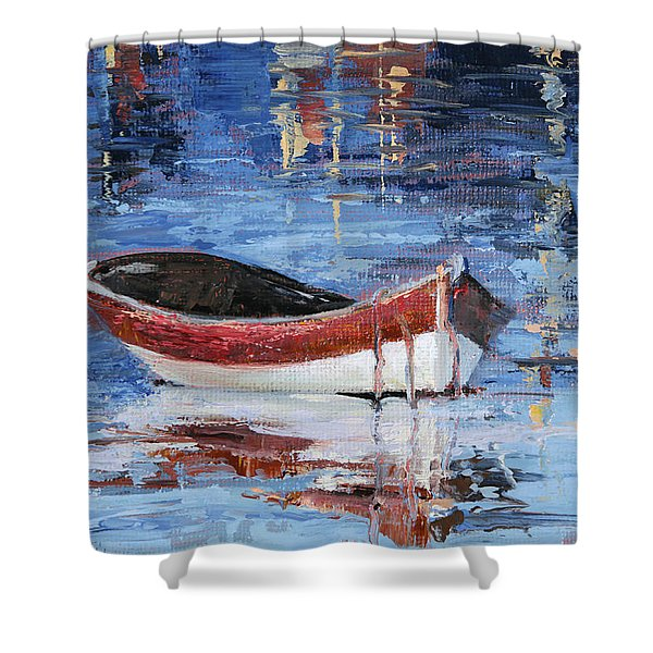 Rusty Brown Blues Shower Curtain