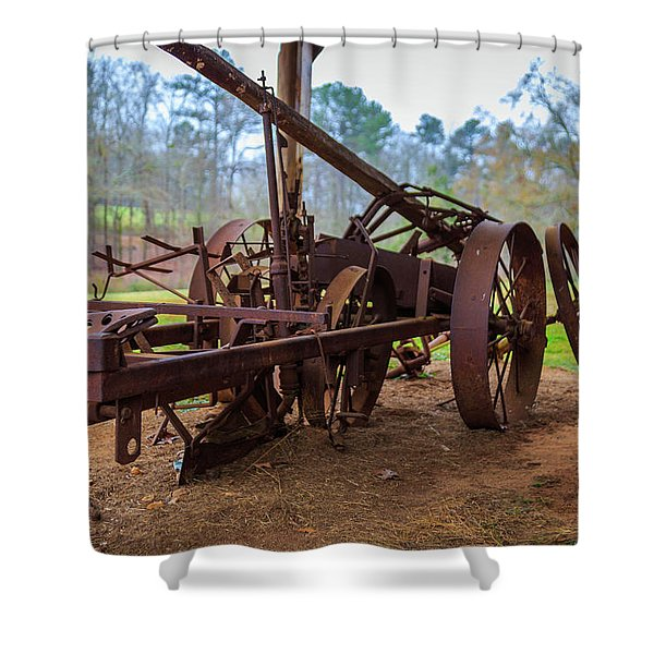 Rusty Farming Shower Curtain