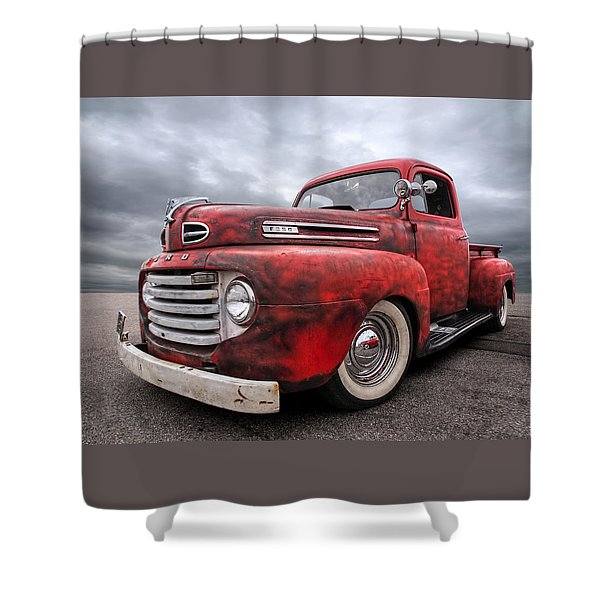 Rusty Jewel - 1948 Ford Shower Curtain