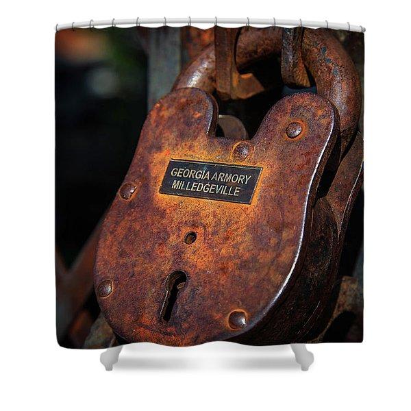 Rusty Lock Shower Curtain