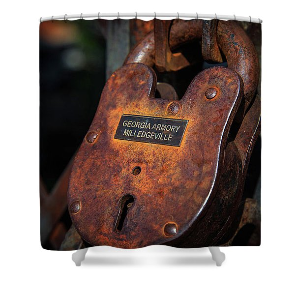 Rusty Lock Shower Curtain