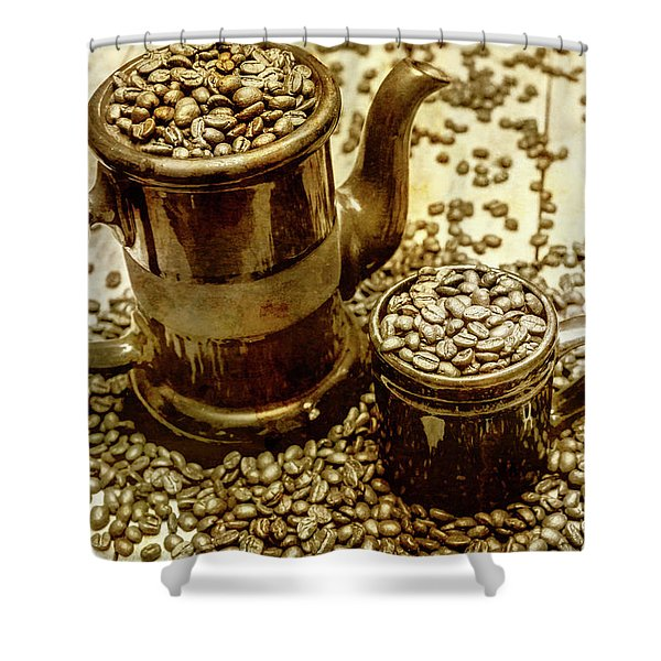 Rusty Old Cafe Still Life Artwork Shower Curtain