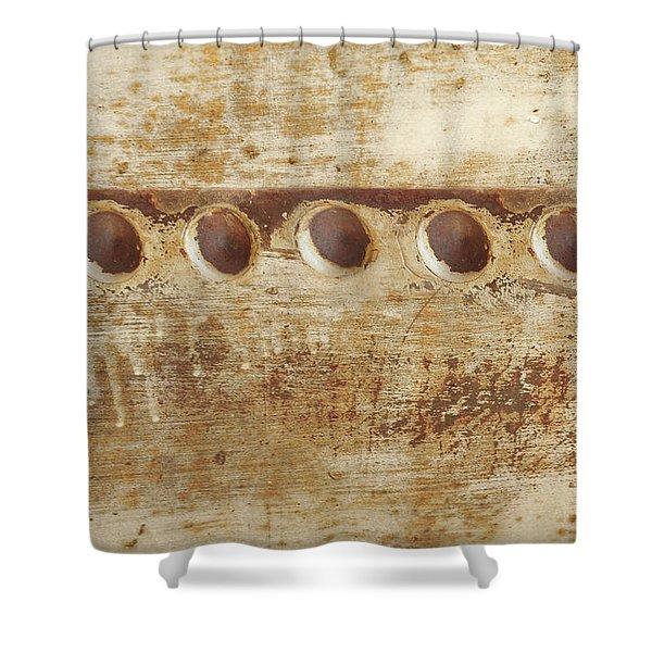 Rusty Rivits Shower Curtain