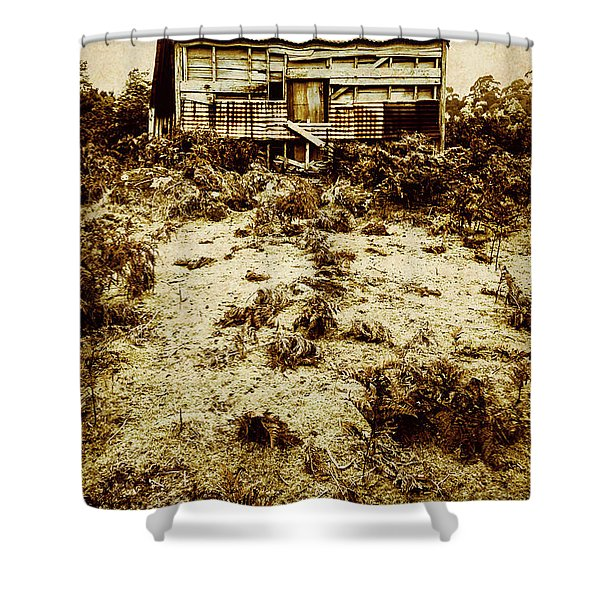 Rusty Rural Ramshackle Shower Curtain