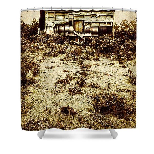 Rusty Rural Ramshackle Shower Curtain