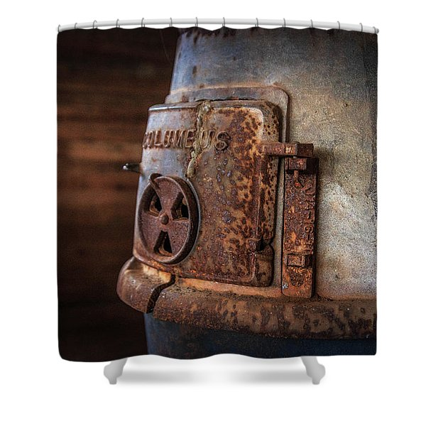 Rusty Stove Shower Curtain