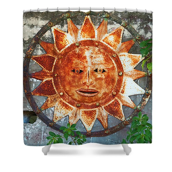 Rusty Sun Shower Curtain