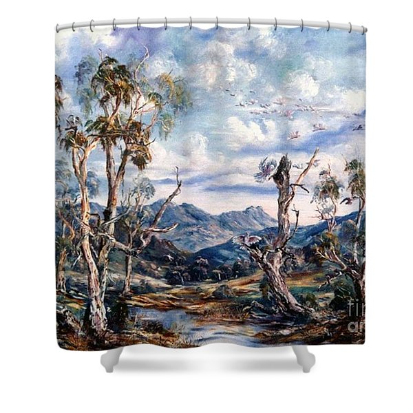 Rwetyepme, Mount Sonda Central Australia Shower Curtain