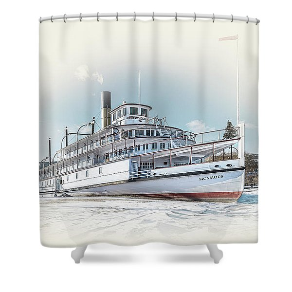 S. S. Sicamous II Shower Curtain