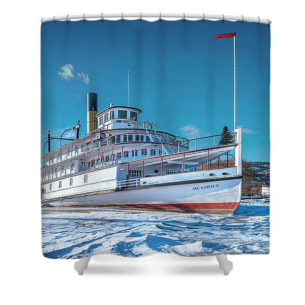 S. S. Sicamous Shower Curtain
