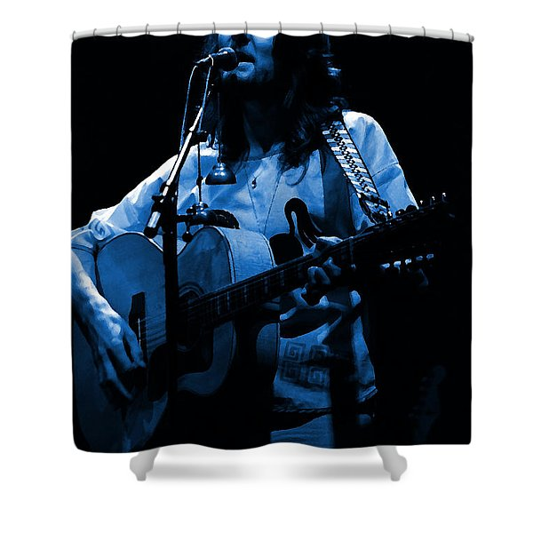 S#14 Enhanced In Blue Shower Curtain