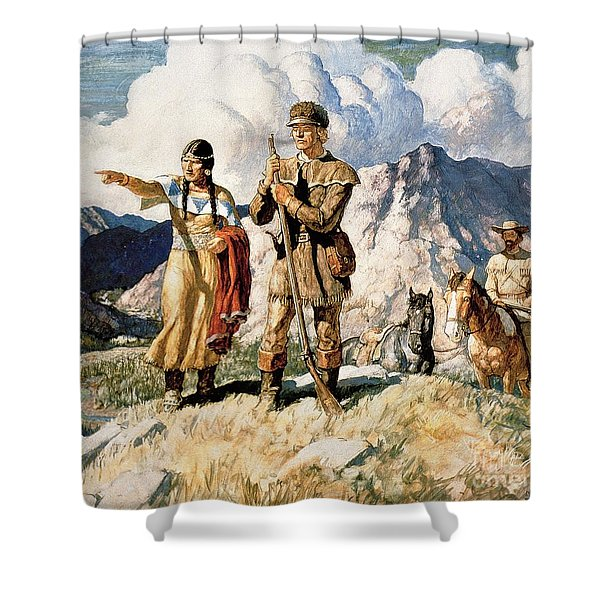 Sacagawea With Lewis And Clark During Their Expedition Of 1804-06 Shower Curtain