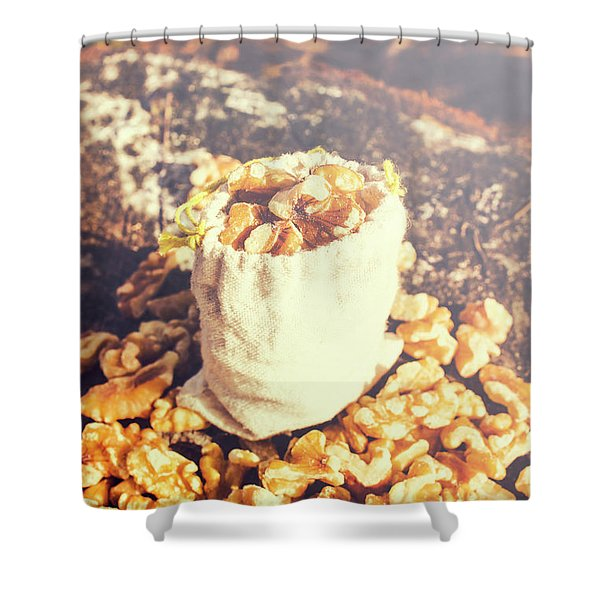 Sack Of Country Walnuts Shower Curtain
