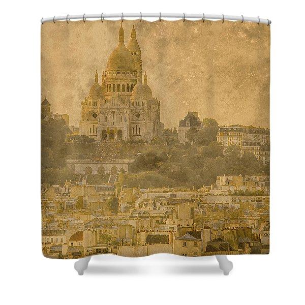 Paris, France - Sacre-coeur Oldplate Shower Curtain