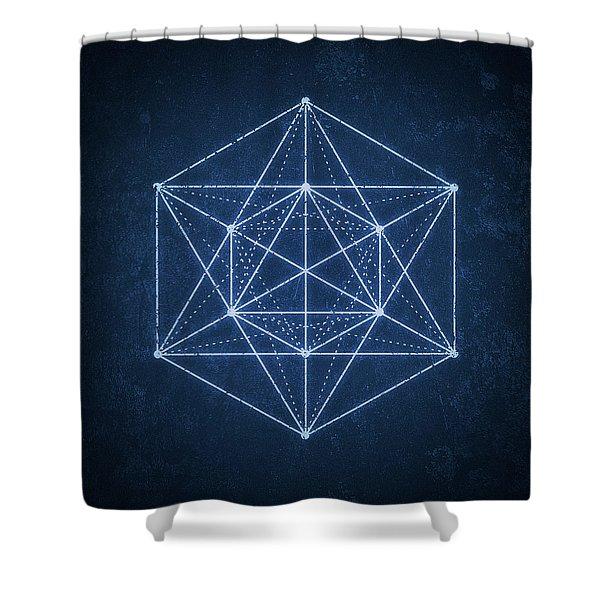 Sacred Geometry  Minimal Hipster Symbol Art Shower Curtain