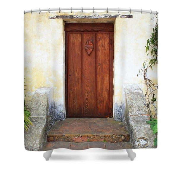 Sacred Heart Door Shower Curtain