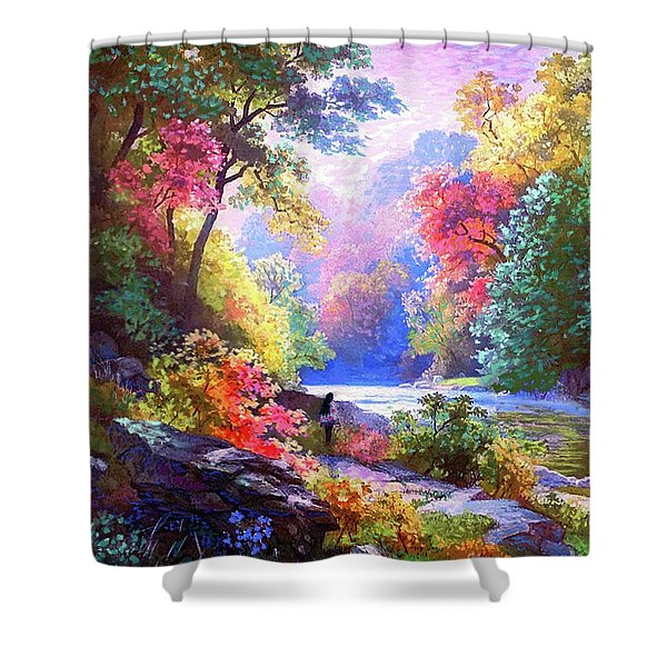 Sacred Landscape Meditation Shower Curtain