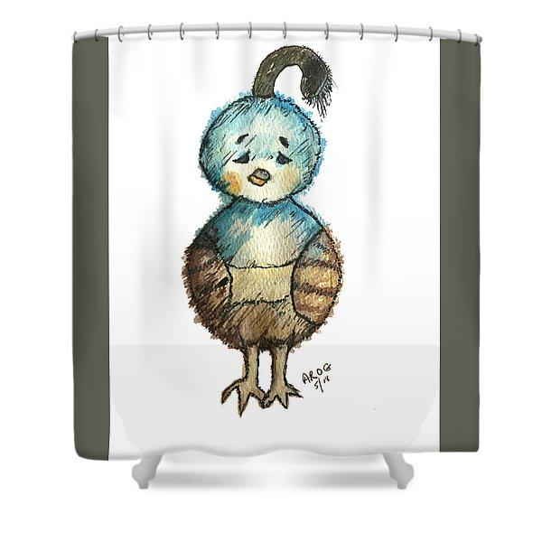 Baby Quail Shower Curtain