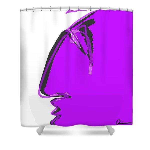 Sad Grape Shower Curtain