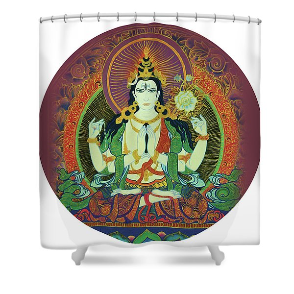 Sada Shiva  Shower Curtain