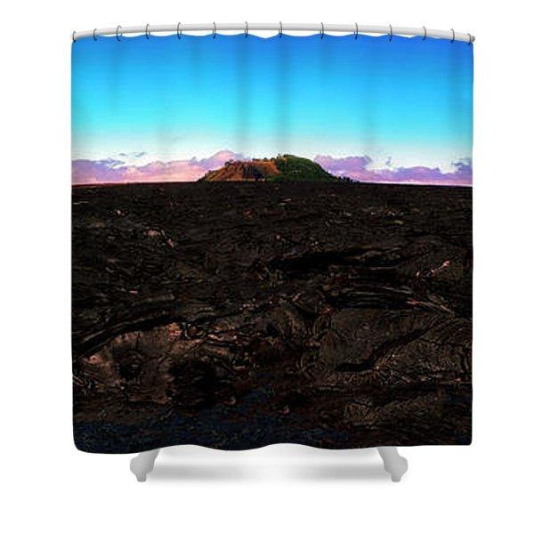 Saddle Road Humuula Lava Field Big Island Hawaii  Shower Curtain
