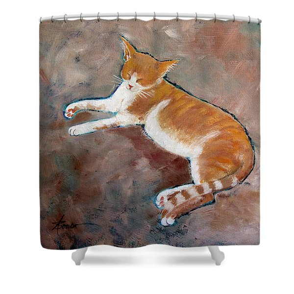 Saddle Tramp- Ranch Kitty Shower Curtain