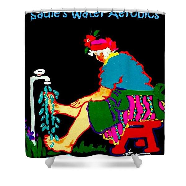 Sadie's Water Aerobics  Shower Curtain