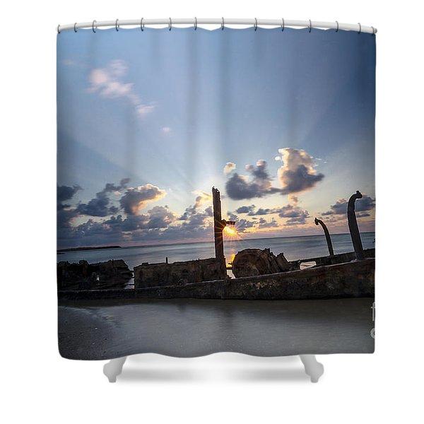 Safe Shore 02 Shower Curtain