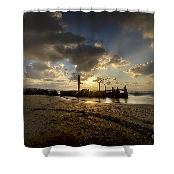 Safe Shore 04 Shower Curtain