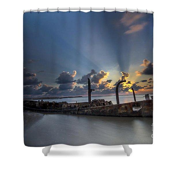 Safe Shore Shower Curtain