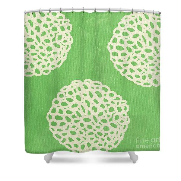 Sage Garden Bloom Shower Curtain
