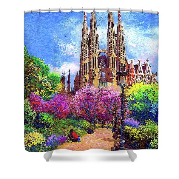 Sagrada Familia And Park Barcelona Shower Curtain