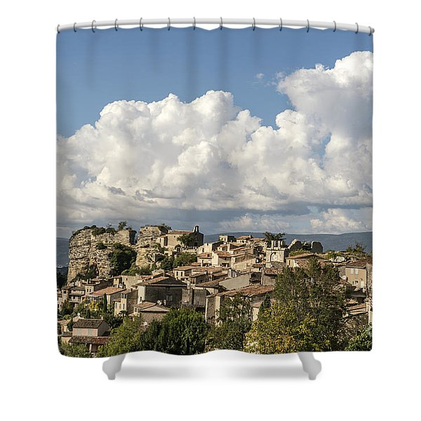 Shower Curtain featuring the photograph Saignon Village Provence  by Juergen Held