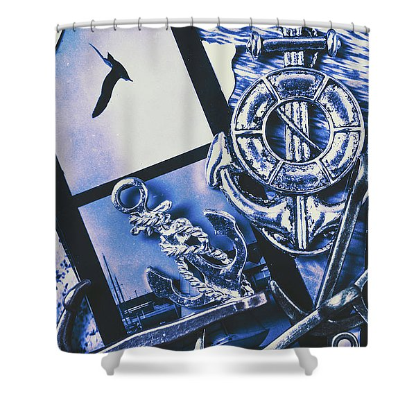 Sail Anchors And Boat Buoys  Shower Curtain