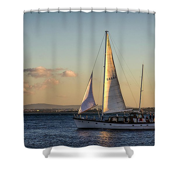 Sail Away From Lisbon Shower Curtain