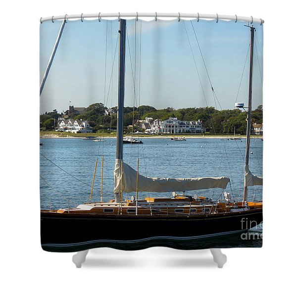 Sail Boat At Hyannis Shower Curtain