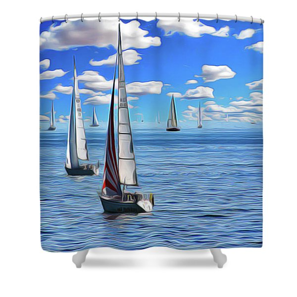 Sail Day Shower Curtain