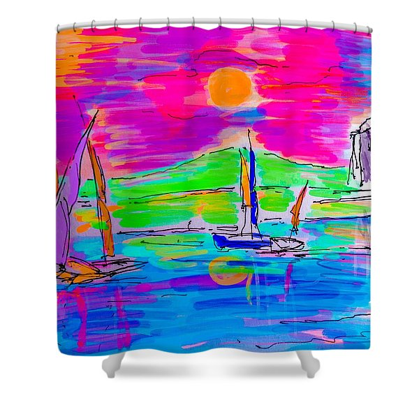 Sail Of The Century Shower Curtain