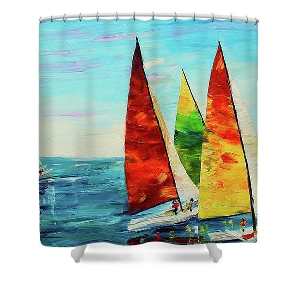 Sailboat Race Shower Curtain